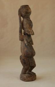 Dogon/Mali - Postać naczelnika, drewno, brązowoszara patyna, wys. 101 cm.