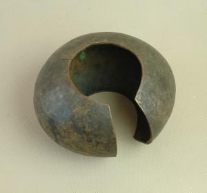 Mbole/Zair - Bransoleta ręcznie kuta, miedz, śred . 22 cm.