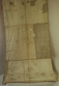 Kuba/Zair -  Spódnica spodnia z rafii w kolorze beżu z aplikacjami dług. 4,80 m.